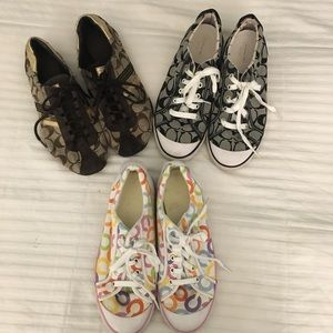 3 Pairs Coach Sneakers Size 9